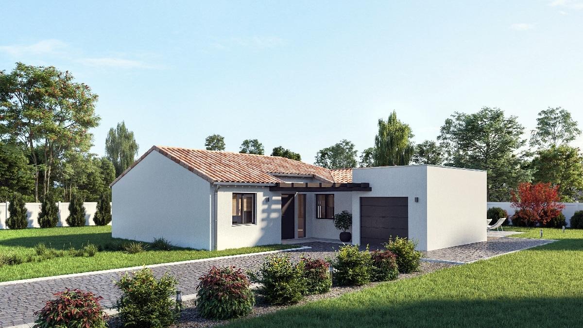 Maisons Omega plan maison N contemporaine Langoiran