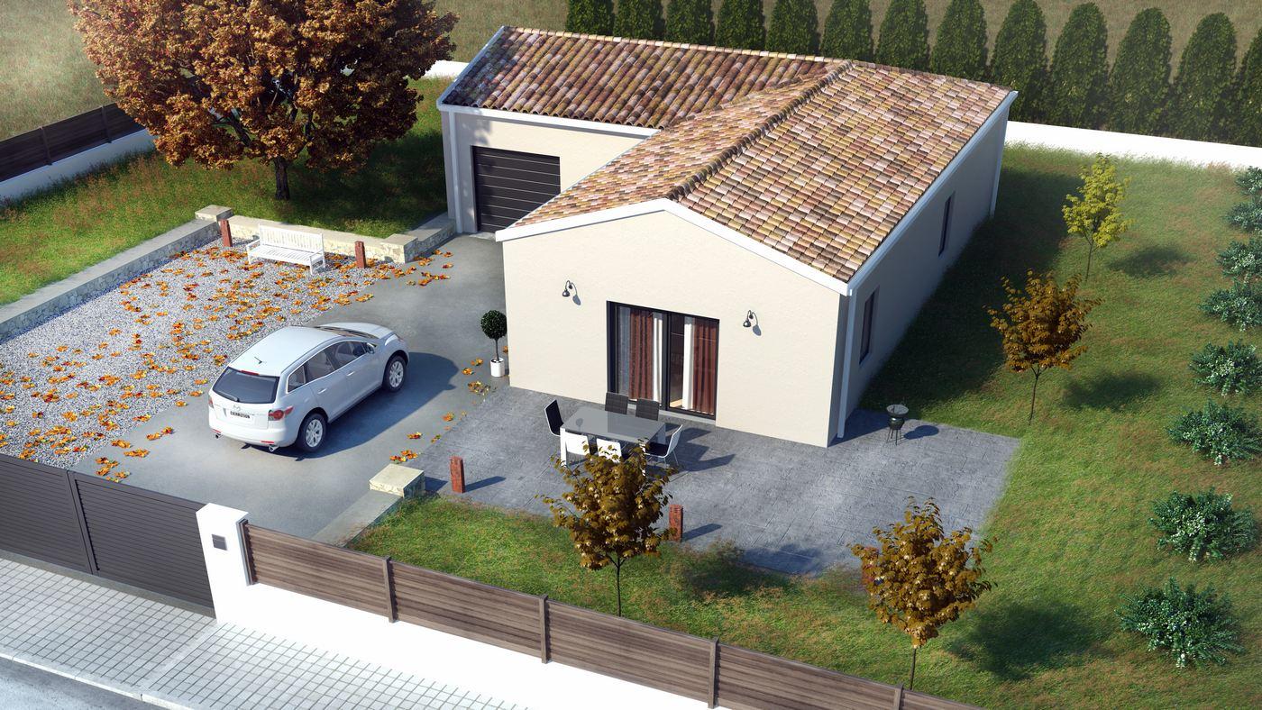 Boulazac maison visuel 3D dvue aerienne