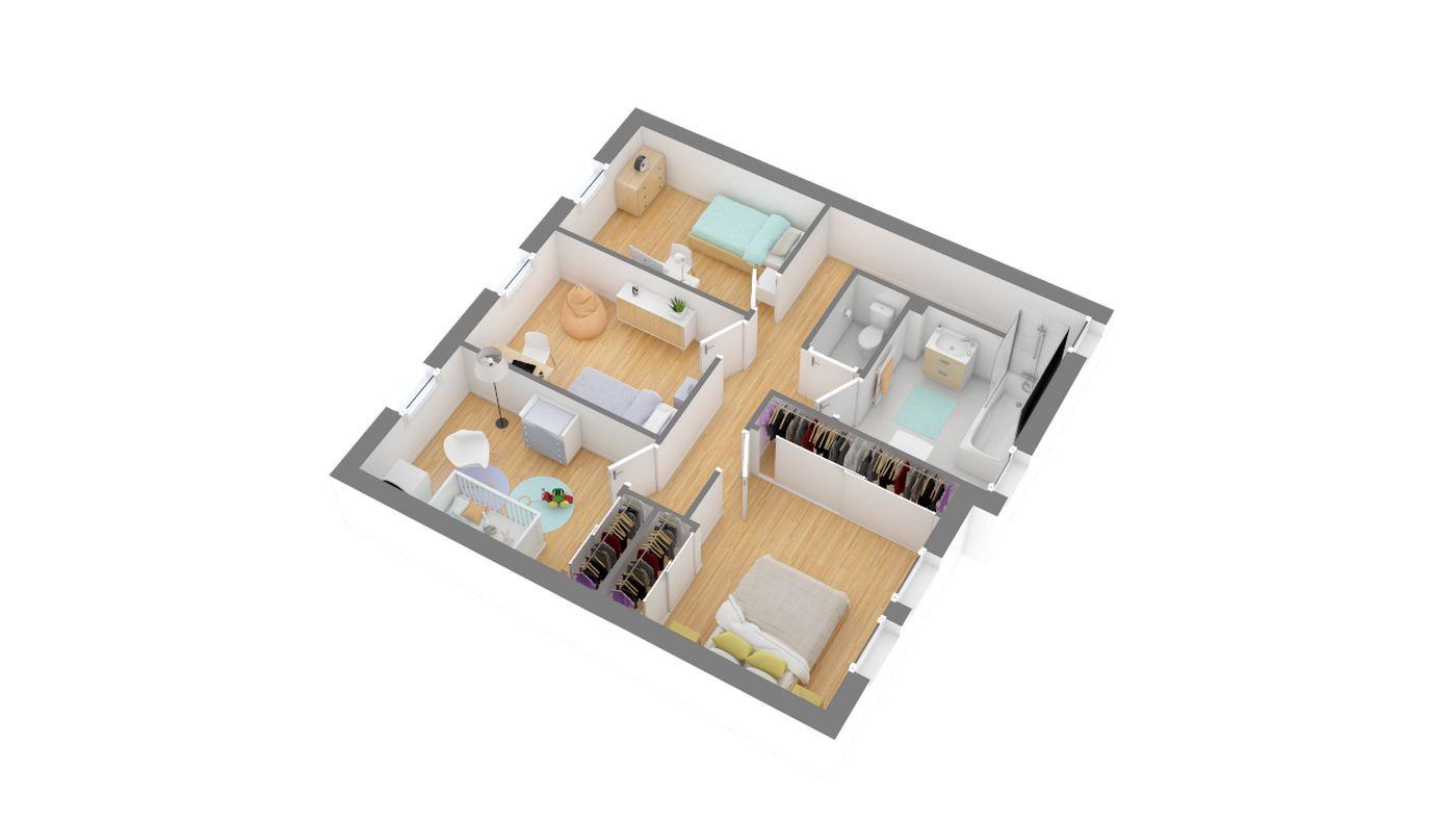 Maisons Omega_Cauderan_115-g1-axo_etage