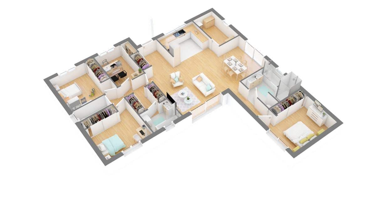 Maisons Omega_beauronne-g0-axo_rdc